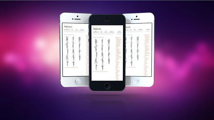 thiết kế trình bày ấn tượng smartphones responsive web design iPhone 5s