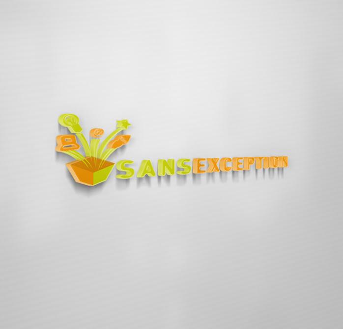 thiết kế trình bày ấn tượng logo 3d trên nền