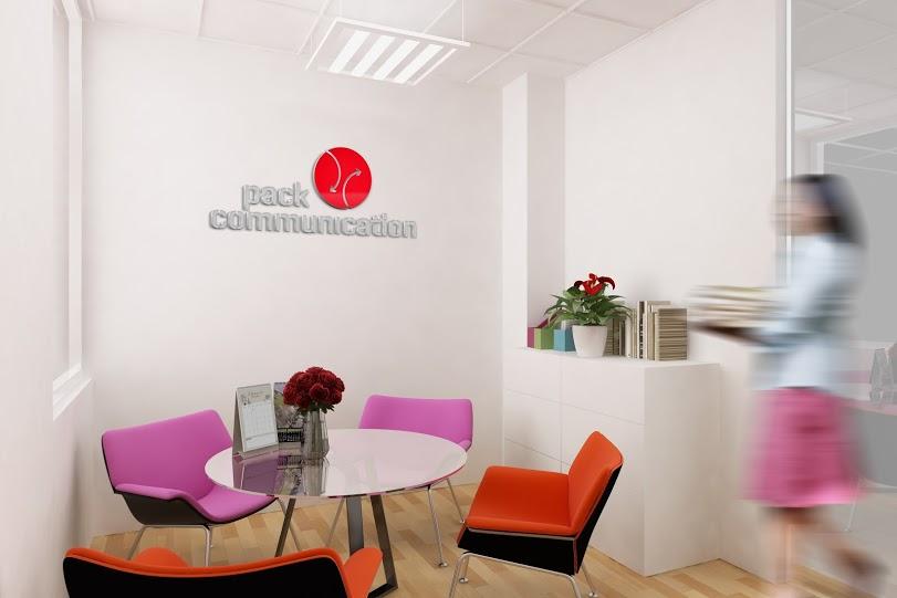 thiết kế trình bày ấn tượng logo trong văn phòng